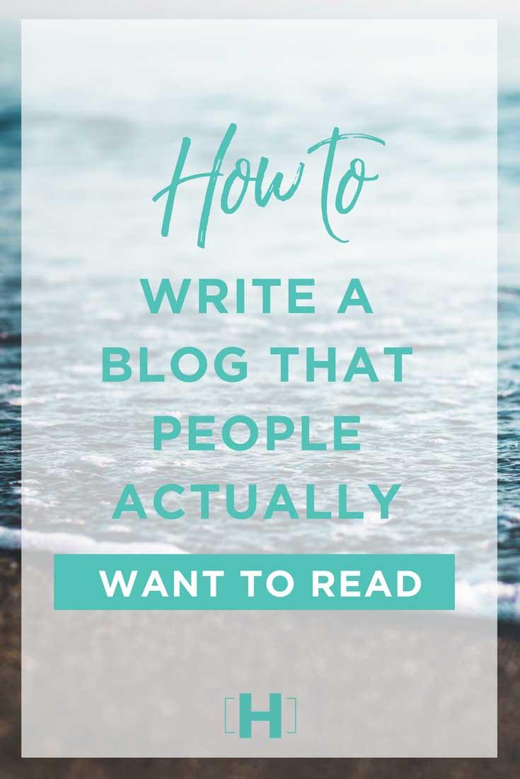 Write blogs people read